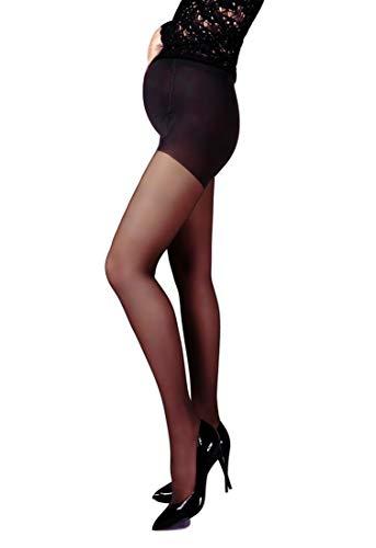 Mama Maternity Pantyhose Tights Sheer 20 denier Pregnancy Hosiery (S, Black)