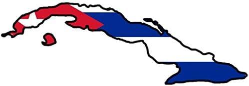 Auto Aufkleber Kuba Sticker Cuba Konturgeschnitten Ca 11x6 Cm Auto