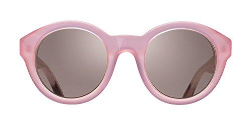Triwa Women's Grace Round Sunglasses, Semi Transparent Pink & Transparent Burgundy Temple Tips, 55 - Sunglasses Triwa