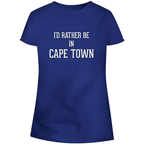 University Of Cape Town South Africa - One Legging it Around I'd Rather Be in Cape Town - Women's Soft Junior Cut Adult Tee T-Shirt, Blue, Medium