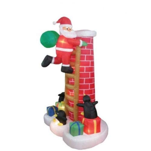 Yal Boutique Santa Climbing Chimney Inflatable Christmas Indoor Outdoor Yard Decorations ()