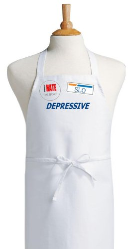 Depressive I Hate Insurance Funny Apron & Halloween Costume