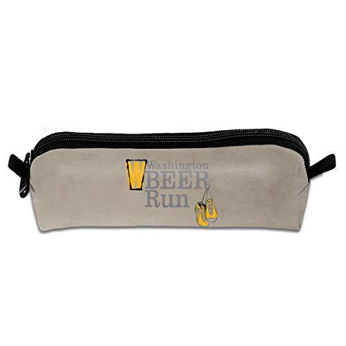 (GGlooking Pencil Case Beer Simple Zipper Pouch,Portable Office School Supplies Pen Bag)
