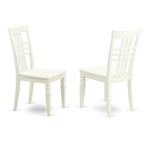 East West Furniture LGC-LWH-W Logan Dining Chair with Wood Seat – Linen White Finish Review