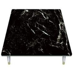 Black Marble Tempered Glass Instant Counter By Jumbl - Black Marble Top Counter