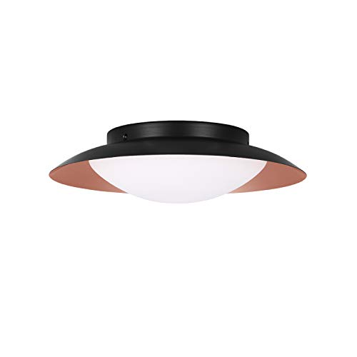 - GetInLight LED Flush Mount Ceiling Light, 14-Inch, 20W(100W Equivalent), Copper Finish, 3000K(Soft White), Dimmable, Round, Wet Location Rated, ETL Listed, IN-0318-2-CP-30