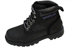 Caterpillar Willow Womens Leather 6 Boots Black Size 7 Uk