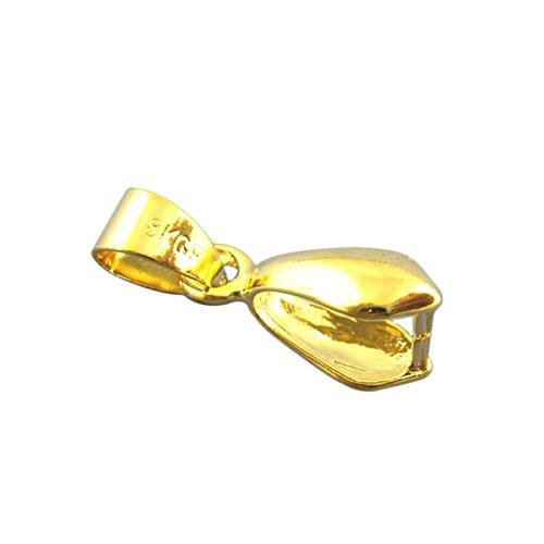 Housweety Bijoux Accessoires -20 Fermoirs pince + Beliere Dore 8*20mm