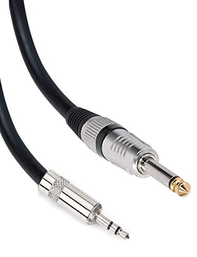 SeCro 6.35mm (1/4 inch) Male Mono Plug to 3.5mm Male Stereo Audio Jack Cable (4.9FT [1.5 Meters])