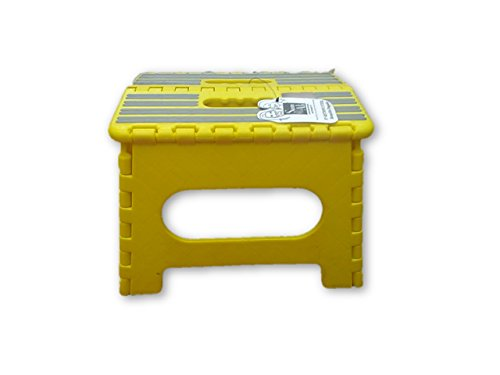 Fabulous Folding Step Stools 1018S9 Yellow Sam & Ali, the Gripper Step Stool, Yellow