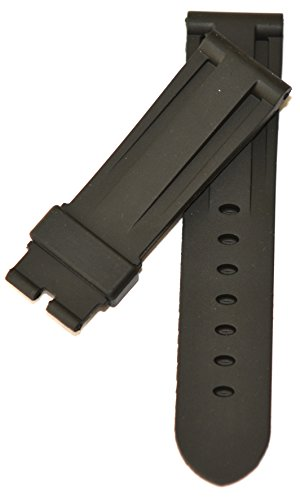 24mm Silicon Rubber Black Band Strap Replacement for Panerai