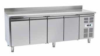 Banco nevera mesa separados a 4 puertas prof. cm. 70 de acero ...