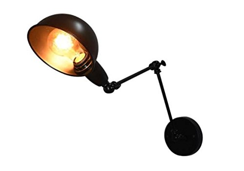 Lampmall Industrial Retro Adjustable Wall Light Vintage Long Arm Wall Sconce Swing Arm Metal Wall Lamp(Bulbs Not Include)