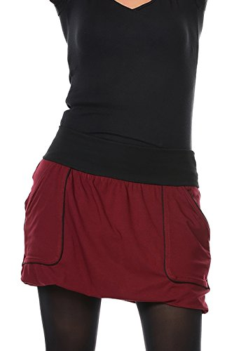 bola bolsillos de en 3 hecha falda Berl casual con corta Mujer x6xB17