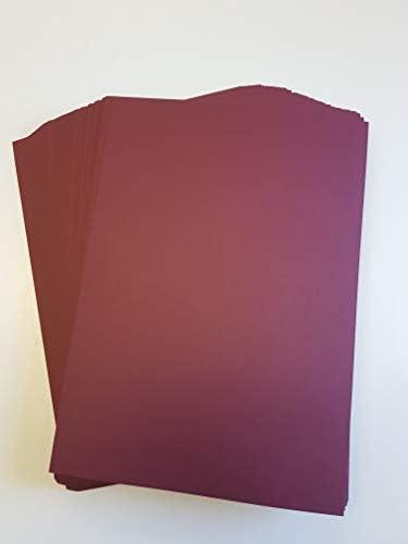 A4Maroon Karte Lager X 50Blatt, 240gsm (297mm x 210mm)–Stella Crafts