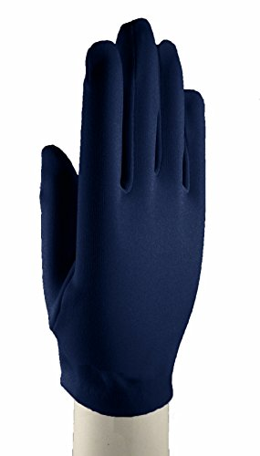 [Navy Blue Dress Gloves Wrist Length - Dress Up, Church, Formal, Tea, Costume] (1940s Dance Costumes)