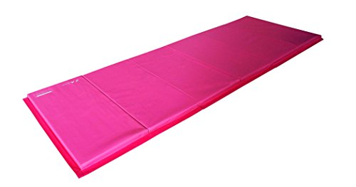 Z Athletic Folding Panel Mats for Gymnastics (Pink, 4ft x 12ft x 2in)