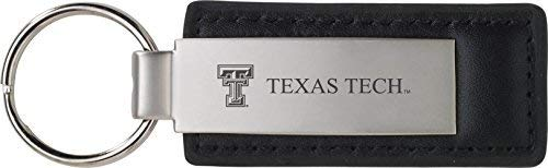 (Texas Tech University - Leather and Metal Keychain - Black)