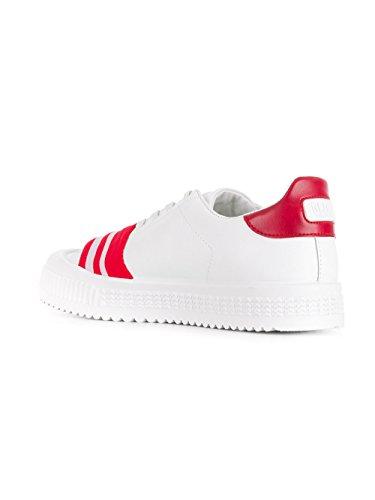 Gcds Gentleman Ss18m01100403 Sneakers In Pelle Weiss