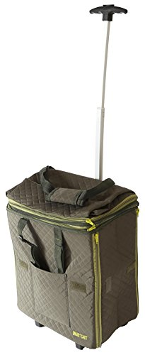 dbest prdoucts Smart Cart Expandable Tote Travelux Series: Premium Quilted Weekender Bag Carry-on, Olive ()