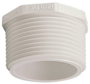 1'' M-NPT 150 lb PVC Hex Pipe Plug, (Pack of 10) by NIBCO INC