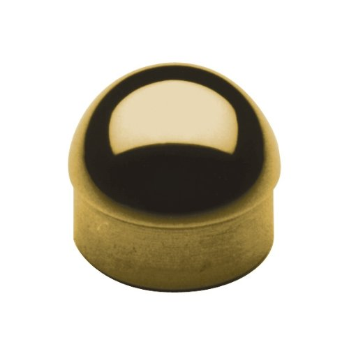 Lavi Industries 00-602/2 Polished Brass Half Ball End Cap 2