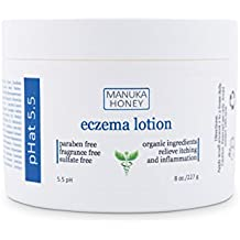 Eczema Cream by pHat 5.5 (8 oz) Organic Skin Care Products - Helps with itching, redness and inflammation