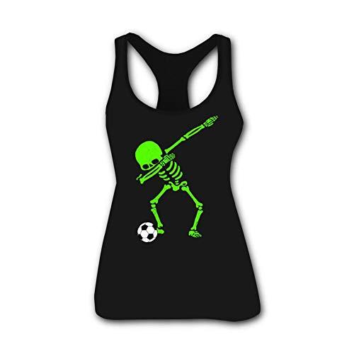Andersonding Tank Tops for Women's Halloween Skeleton Dab Sleeveless Workout Tees Girls O Neck Comfort Training Shirts -