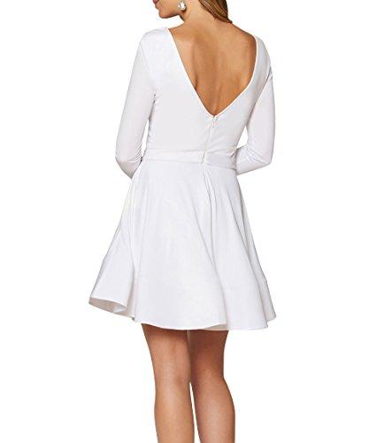 La Royal Elegant Kleider Brautmutterkleider Partykleider Kurzes mit Brautjungfernkleider Brau Langarm mia Blau Jugendweihe Abendkleider rBwCqra