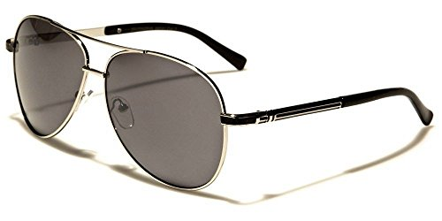 Silver Black Skyline Collection Classic Double Bridge Men'S Aviator - Sunglasses Police Skyline