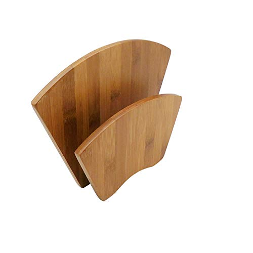 JB Home Collection 4570, Natural Bamboo Wood Paper Napkin Holder for Home Restaurant Table Countertop (Turkey Napkin Holder Wooden)