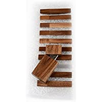10 16GB Flash Drive - Bulk Pack - USB 2.0 Wooden Walnut Stick Design - 16 GB Flash Drive