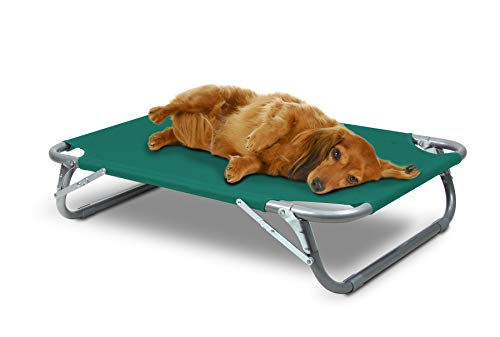 GigaTent Elevated Pet Cot with Steel Frame - Foldable Raised Comfortable Lightweight Durable Disassemble Play and Rest Portable Pet Bed for Dogs and Cats