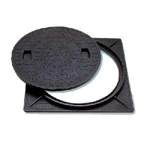 マンホールカバー 角枠付 樹脂製 耐圧2トン(ロックなし) 450型 JT2-450A-2 城東テクノ B0087KG144 11700