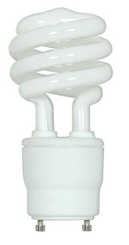 Satco S8204 15 Watt (60 Watt) 950 Lumens Mini Spiral CFL Soft White 2700K GU24 Base Light Bulb Color: 2700K Soft White Style: 15 Wt / Mini Spiral Model: S8204 (Hardware & Tools Store) ()
