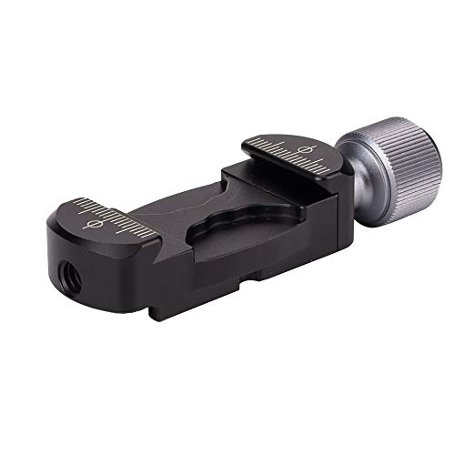 Universal Aluminum Arca Swiss Clamp with Hot Shoe Mount Adapter and 1/4