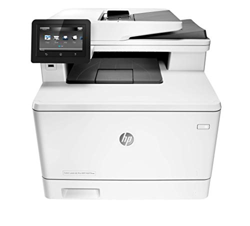 (HP LaserJet Pro M477fnw All-in-One Wireless Color Laser Printer with Built-in Ethernet, Amazon Dash Replenishment ready (CF377A))