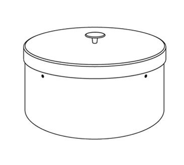 Dinex DXIACPHC0912 9-1/8-in Plate Heater Silo Cover, Each (Cover Silo)