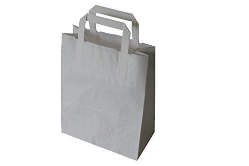 30 Papiertragetaschen mit Flachhenkel