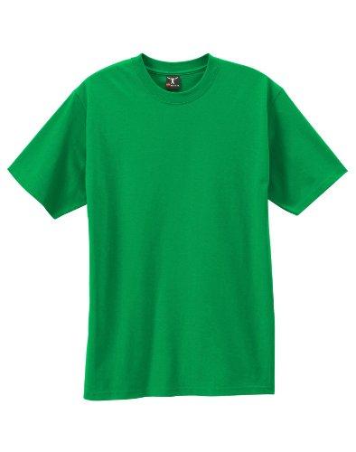 Short Sleeve Undergarment - Hanes By Beefy-T Adult Short-Sleeve T-Shirt, Shamrock Green, L