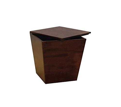 Deluxe Walnut Cube - Winsоmе Deluxe Premium Collection Mesa Storage/Organization Antique Walnut Decor Comfy Living Furniture