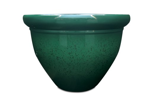 Listo Pizzazz Resin Pottery Planter with Speckle, 9-Inch, -