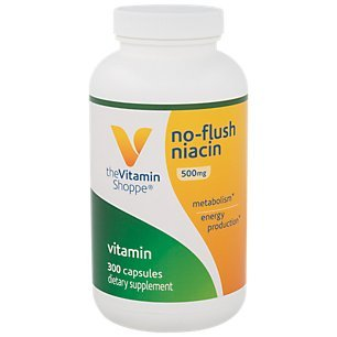 Cholesterol Niacin Flush - The Vitamin Shoppe No Flush Niacin 500MG, Supports Cholesterol Levels Already Within The Normal Range, Supports Metabolism Energy Production, Once Daily (300 Capsules)