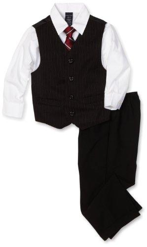 Nautica Dress Up Little Boys' Dresswear Vest Set, Black, ...