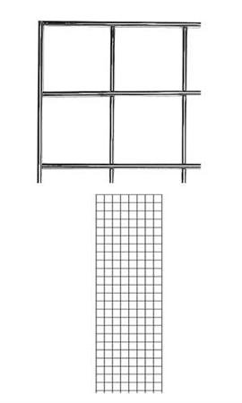 - 2 x 6 Foot Chrome Wire Grid Panel - 3