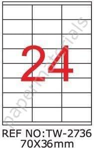 TANEX TW de 2736universal/Etiquetas para direcciones color
