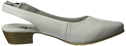 Jana 29440, Zapatos con Talón Descubierto para Mujer Blanco (Off White 109)