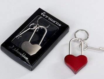 Candado del amor corazón plata puentes candado en forma de ...
