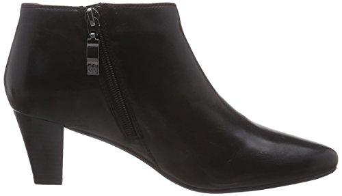 negro botas 04 cuero mujer de caño bajo GERRY WEBER de Laura negro Upttv6
