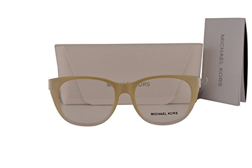 Michael Kors MK8011 Phuket Eyeglasses 50-16-135 Oak White Crystal 3038 MK - Eyeglass Case Kors Michael